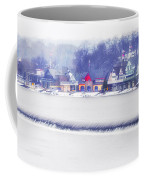 Wintertime At The Fairmount Dam And Boathouse Row Coffee Mug