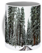 Wintry Forest Drive Coffee Mug