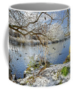 Wintry River At Newton Road Park Coffee Mug