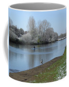 Wintry River At Stapenhill Coffee Mug