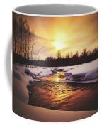 Wintry Sunset Reflections Coffee Mug