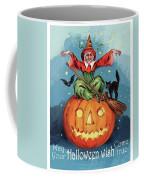 Witch In A Big Pumpkin Coffee Mug