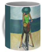With Bike On The Beach Coffee Mug