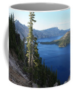Wizard Island On Crater Lake Coffee Mug