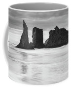 Wizard's Hat Sea Stack - Black And White Coffee Mug