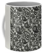 Wolf Gray Paisley Design Coffee Mug