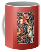 Wolf Hiding In Branches Coffee Mug
