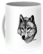 Wolf In Pencil Coffee Mug