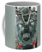 Wolf Motorcycle Gas Tank Coffee Mug