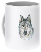 Wolf Coffee Mug by Olga Shvartsur