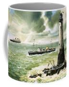 Wolf Rock Lighthouse At Land's End Coffee Mug