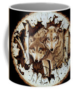 Wolves In Hiding Coffee Mug