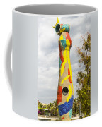 Woman And Bird Statue - Barcelona Spain Coffee Mug