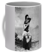 Woman And Fan, C1887 Coffee Mug