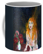 Woman And Flowers  Coffee Mug