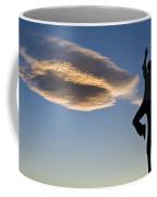 Woman Balancing On A Fence Post Coffee Mug