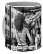 Woman Carry Dog Nyc Blk Wht  Coffee Mug