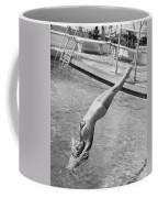 Woman Doing A Back Dive Coffee Mug