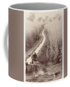 Woman Doing Laundry In Canal- Sepia Coffee Mug