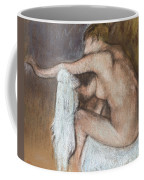 Woman Drying Her Arm Coffee Mug