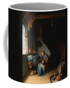 Woman Eating Porridge Coffee Mug