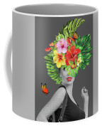 Woman Floral  Coffee Mug