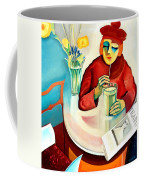 Woman In A Cafe Coffee Mug