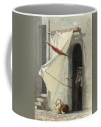 Woman In A Doorway. Rome Coffee Mug