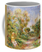 Woman In A Landscape Coffee Mug