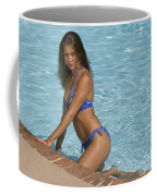 Woman In A Pool. Coffee Mug
