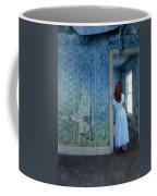 Woman In Abandoned House Coffee Mug by Jill Battaglia