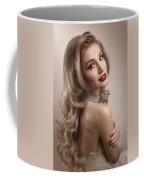 Woman In Big Curls Hollywood Glam Look Coffee Mug