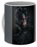 Woman In Black Gown And Headdress In Body Paint Coffee Mug
