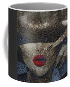 Woman In Blue Red Passion Coffee Mug