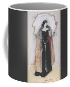 Woman In Evening Clothes And Cape Coffee Mug