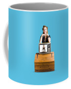 Woman  In Front Of Tv Camera Coffee Mug by Jorgo Photography - Wall Art Gallery