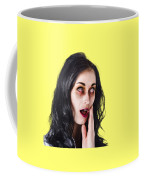 Woman In Horror Makeup Coffee Mug