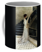 Woman In Lace Gown On Staircase Coffee Mug