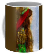 Woman In Medieval Gown Coffee Mug by Jill Battaglia