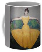 Woman In A Yellow Dress Coffee Mug