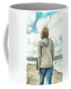 Woman In Rustico Harbor Prince Edward Island Coffee Mug