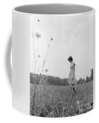 Woman In Summer Meadow, C.1970s Coffee Mug
