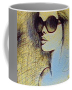 Woman In Sunglasses Coffee Mug