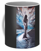 Woman In The Moonlight Coffee Mug