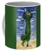 Woman In The Wind By The Sea 1907 Coffee Mug