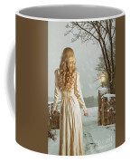 Woman In Winter Scene Coffee Mug