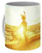 Woman Jumping At Oporto Coffee Mug