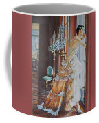Woman Looking Out Of A Window Coffee Mug