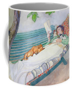 Woman Lying On A Bench Coffee Mug by Carl Larsson