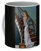 Woman On A Staircase 3 Coffee Mug